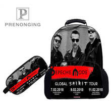 Custom 17inch depeche_mode_Backpacks Pen Bags 3D Printing School Women