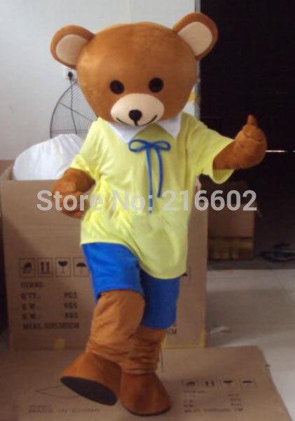 Professional New Mr Teddy Bear Mascot Costume Fancy Dress Adult Size