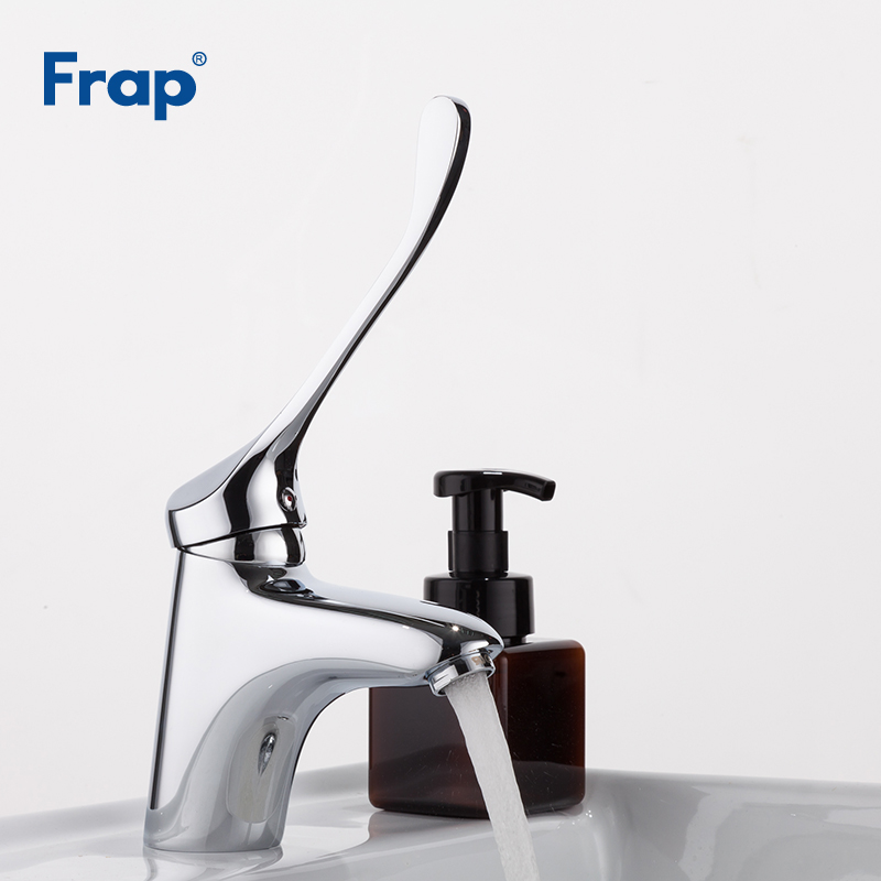 Frap Brass Long handle Bathroom Basin Faucet Mixer Tap Deck Mounted sink Medical hygiene Faucet F1054Frap Brass Long handle Bathroom Basin Faucet Mixer Tap Deck Mounted sink Medical hygiene Faucet F1054