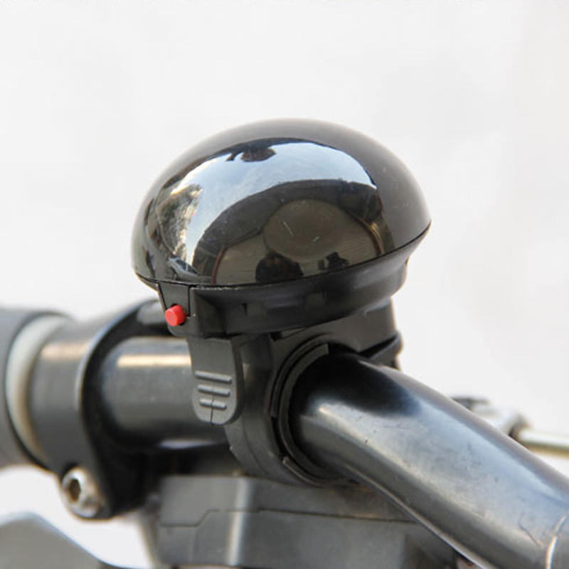 Bicycle Bell Bike Horns Electric Handlebar Mushroom Safety Bicycle Ring Horns Lever Black Battery Bell Cycling Horn LT0087