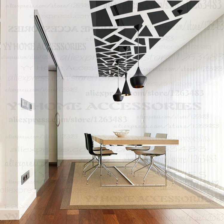 Ceiling Vinyl 3D Acrylic Mirror Wall Stickers Vinilos