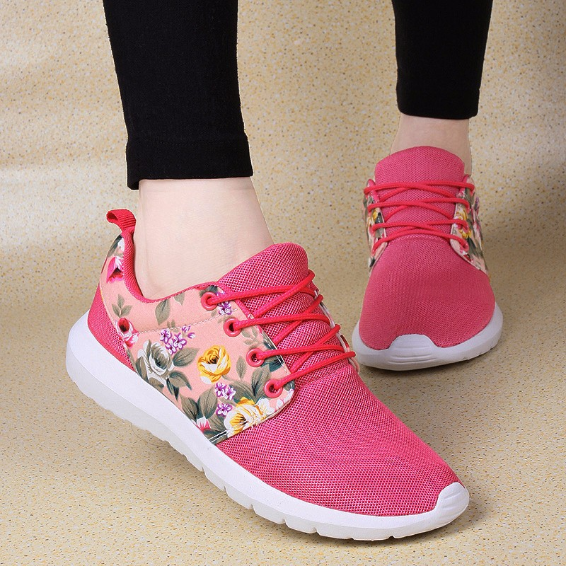 KUYUPP Fashion Breathable Print Flower Women Trainers Casual Shoes 2016 Summer Mesh Low Top Shoes Zapatillas Deportivas YD95 (29)