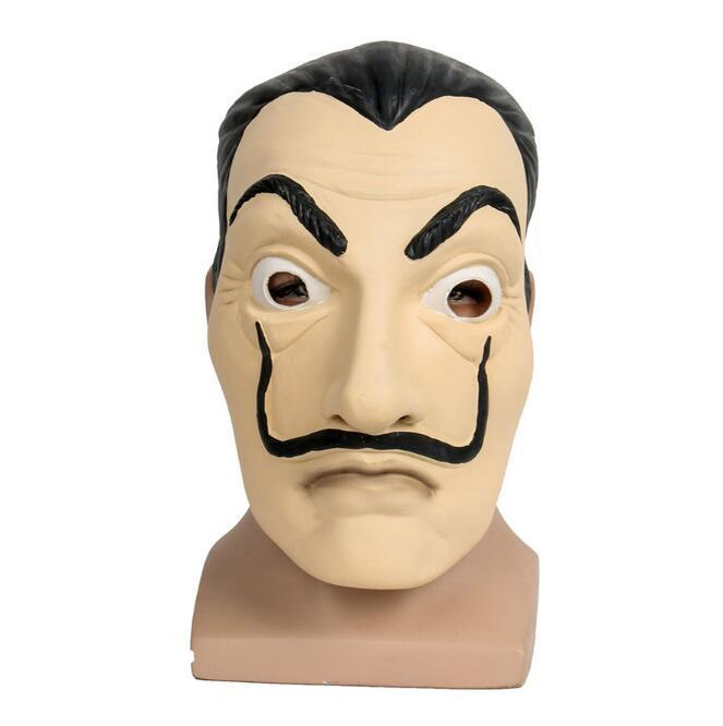 La Casa De Papel Mask Role Play Salvador Dali Mascara Money Heist Toy Cosplay Gift Props 2018 Drop