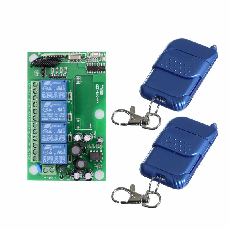 AC 85V 110V 220V 250V 4CH RF Wireless Remote Control