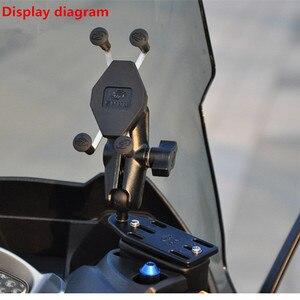 Image 5 - Per Suzuki Burgman 125 400 650 CIELO ONDA 650 AN400 Frame di Navigazione GPS di Navigazione Del Telefono Mobile Staffa di Accessori Moto