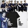 VIXX RAVI SHOW AO VIVO em concerto em torno de Taipei N LEO KEN em mesmas roupas de algodão T-shirt de manga curta