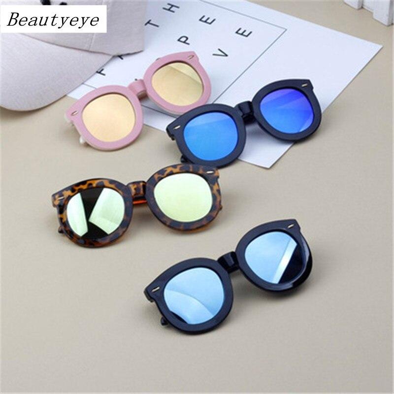 2018 детские очки с широкими боками, цветные детские солнцезащитные очки, очки для мальчиков с большой круглой оправой и заклепками для девоч...