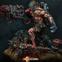 [tuskmodel] 75MM resin model kit butch orc 40k(China)
