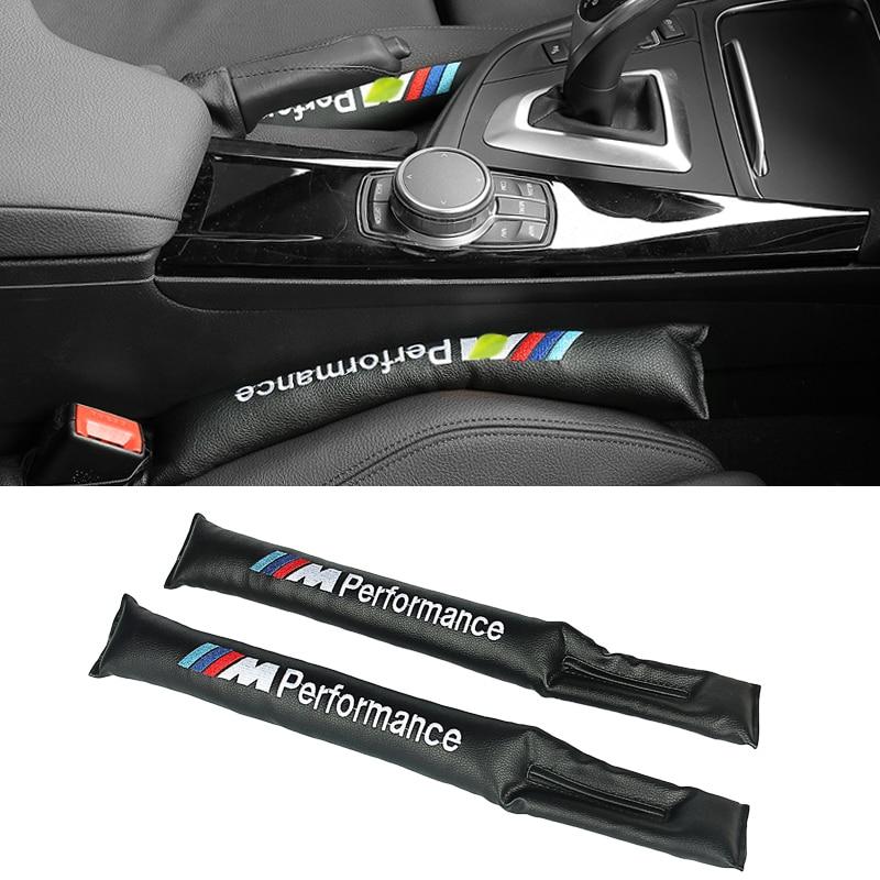 2pcs Car Seat Gap Filler Soft Pad Padding Spacer For BMW E46 E39 E60 E90 E36 F30 F10 X5 E53 E70 E34 F20 E30 E38 E92 X3 M3 M5 M6