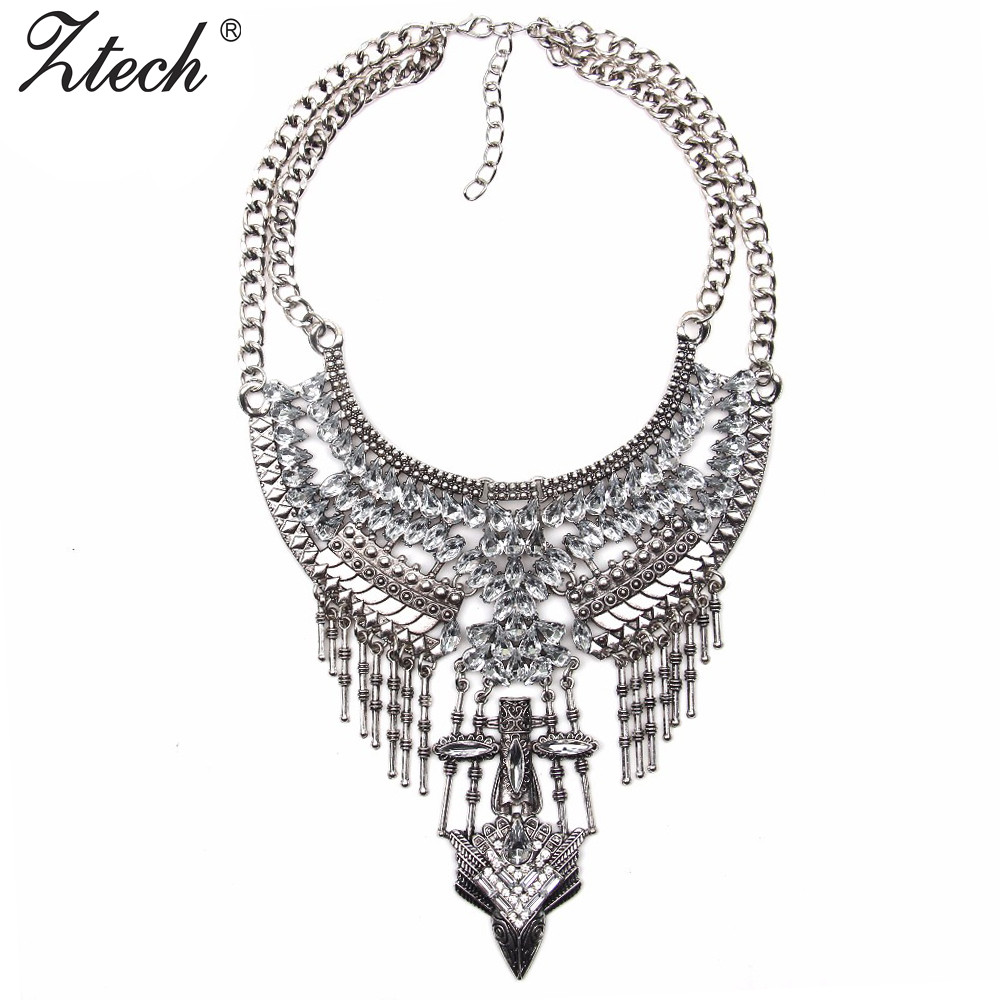 7a4c842812 Detail Feedback Questions about Ztech New design Crystal chain necklace  wholesale women fashion jewelry costume metal chain chunky statement  necklace on ...