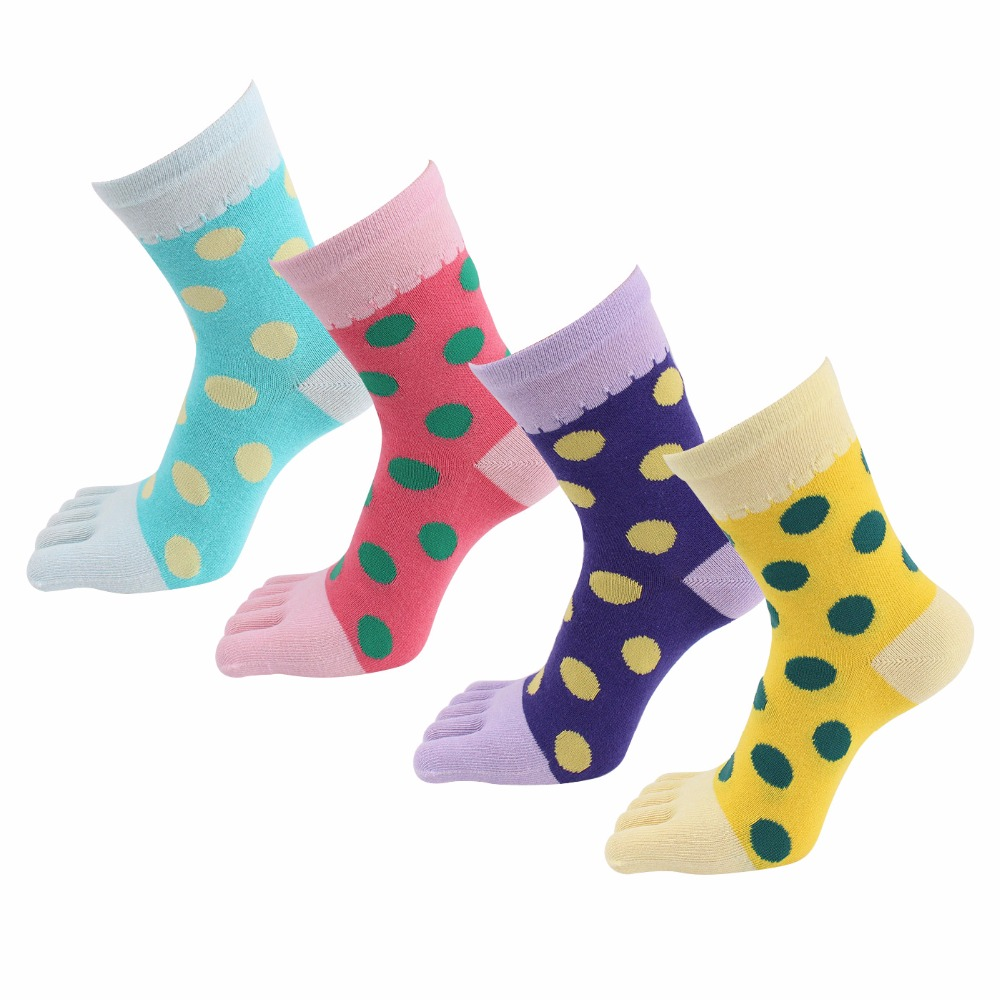 4 Pairs/Lot Maternity Women Five Toe Socks Free Size Maternity Feet Care Socks Cotton Five Finger Breathable Ladies Casual Socks