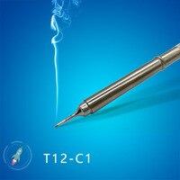 QUICKO T12-C1 T12-C4 T12-CF4 צורת C סדרת הלחמה ברזל טיפים ריתוך ראשי כלים עבור FX9501/907 T12 ידית 7 S להמס פח