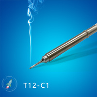 QUICKO T12-C1 T12-C4 T12-CF4 Shape C series Solder iron tips welding heads tools for FX9501/907 T12 Handle 7S melt tin