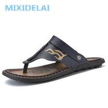 MIXIDELAI дышащие летние римские мужские сандалии из микрофибры кожаная мужская пляжная обувь для прогулок Тапочки Мягкие резиновые сандалии для мужчин