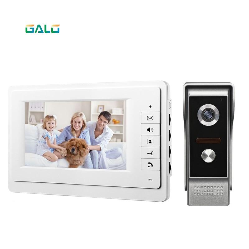 2019Video Door Phone For Villa Outdoor Intercom Night Vision 7inch Indoor Monitor Waterproof Doorbell Camera 1v1 Intercom System
