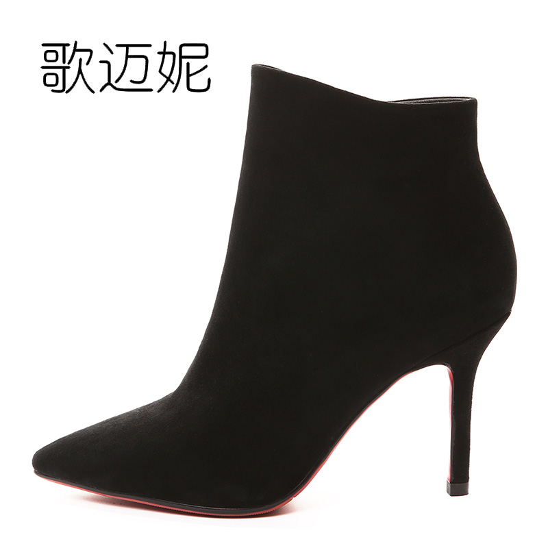 womens winter ankle boots women botas mujer boot botines mujer 2017 ladies black high heel boots laarzen bota over ladies embroidered boots womens ankle boots for women winter boots black boot botas mujer bottine botte femme laarzen botines