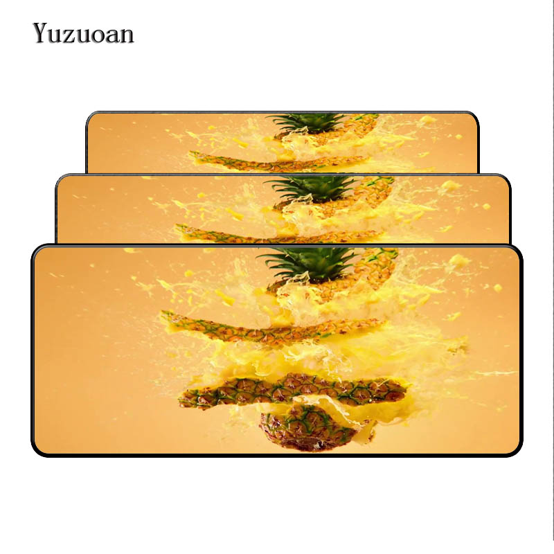 Yuzuoan 900*400*3MM Pineapples Art Print Large Lock Edge Mousepad Computer Desk Mouse pad for Optical Laster LOL DOTA Gamer Pad