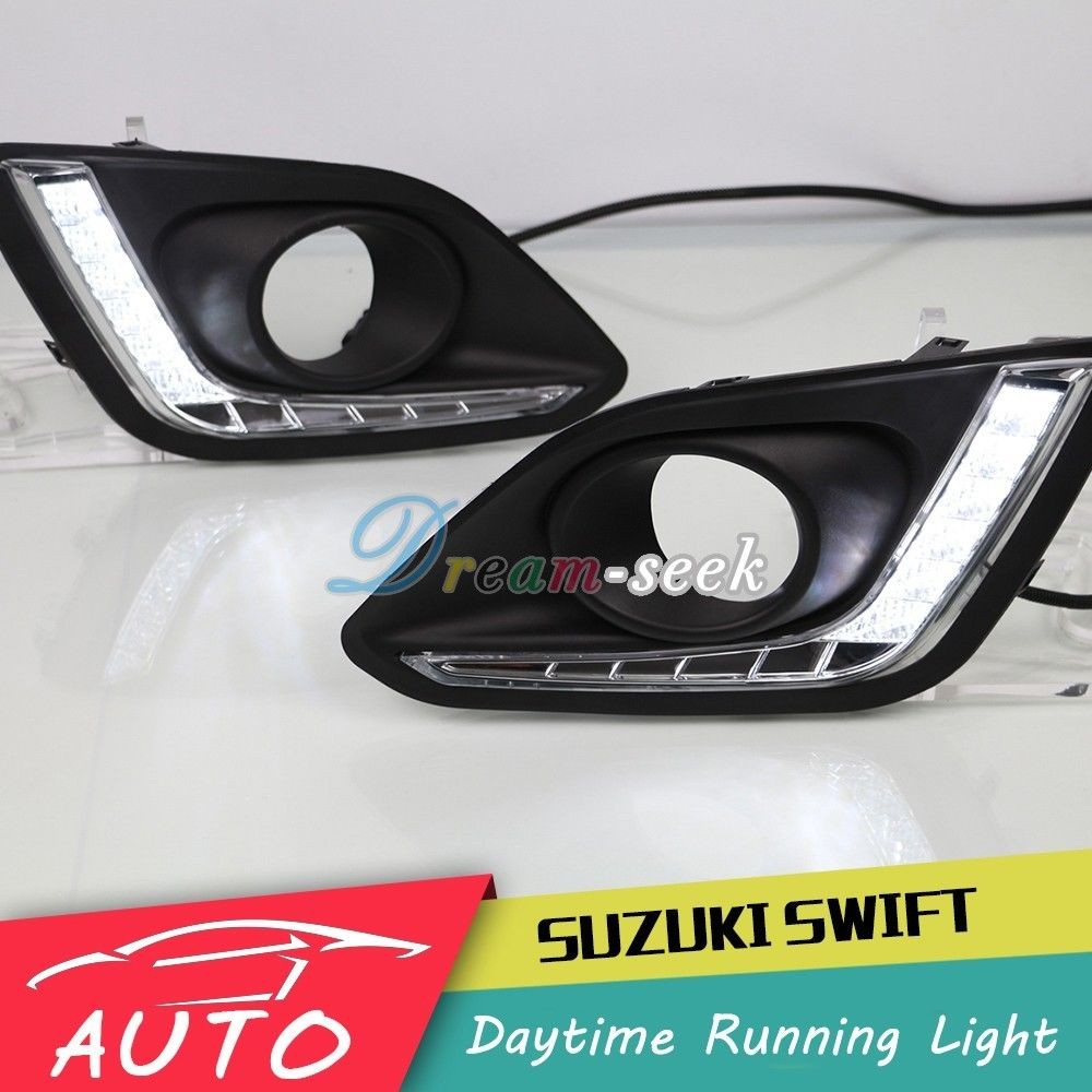 DRL For Suzuki Swift DZire 2014 2015 2016 LED Car Daytime Running Light Relay Waterproof Driving Fog Day Lamp Daylight