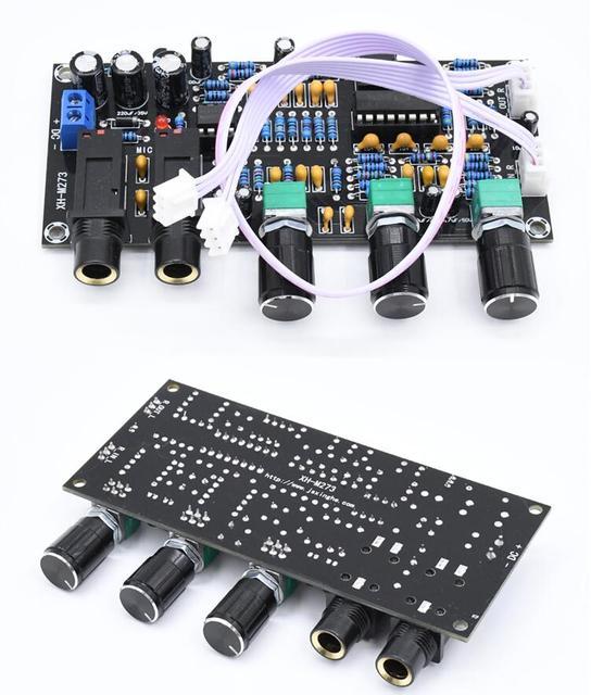 DC 12 В 24 В PT2399 Плата усилителя цифрового микрофона реверберация караоке OK ревербератор усилитель NE5532 предусилитель тональная плата