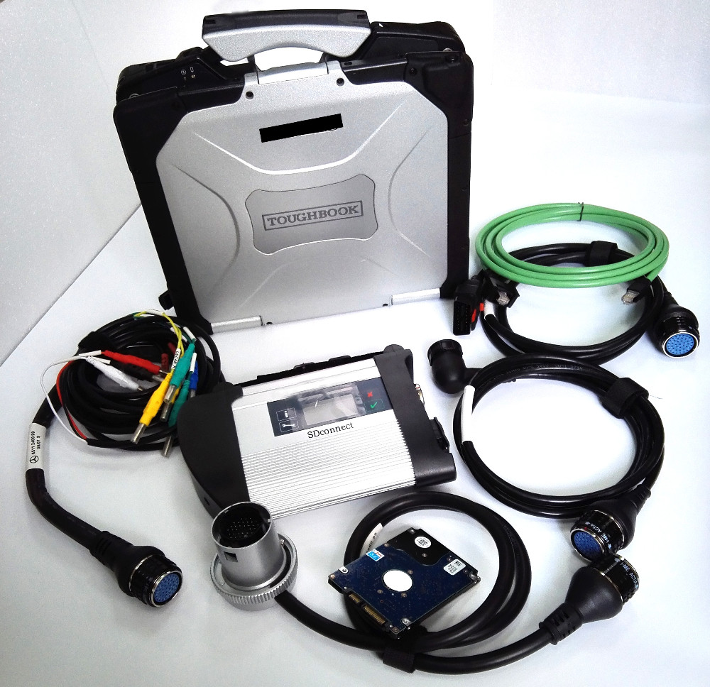 for panasoic cf-30 toughbook and mb star c4 sd connect diagnostic tool