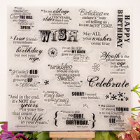 Stempel Tampons Encreurs Scrapbooking Wish Series 20 20CM ACRYLIC Clear STAMPS FOR PHOTO Timbri SCRAPBOOKING Stamp