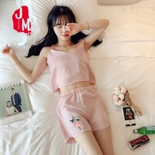 Women Pajama Silk Summer Pijamas Satin Sleeveless Solid Set Homewear Sleepwear Sleep M L XL XXL