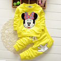 2017 autumn winter girls clothing sets cartoon minnie mouse children's wear cotton casual tracksuits kids clothes sports suit