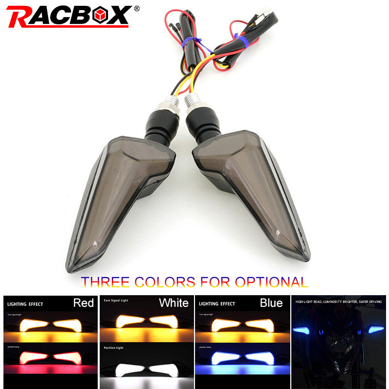 Pair Motorcycle Modified Turn Signals Waterproof Turn Lights LED Direction Lamp Amber Red Blue Warning Signal Light For Honda