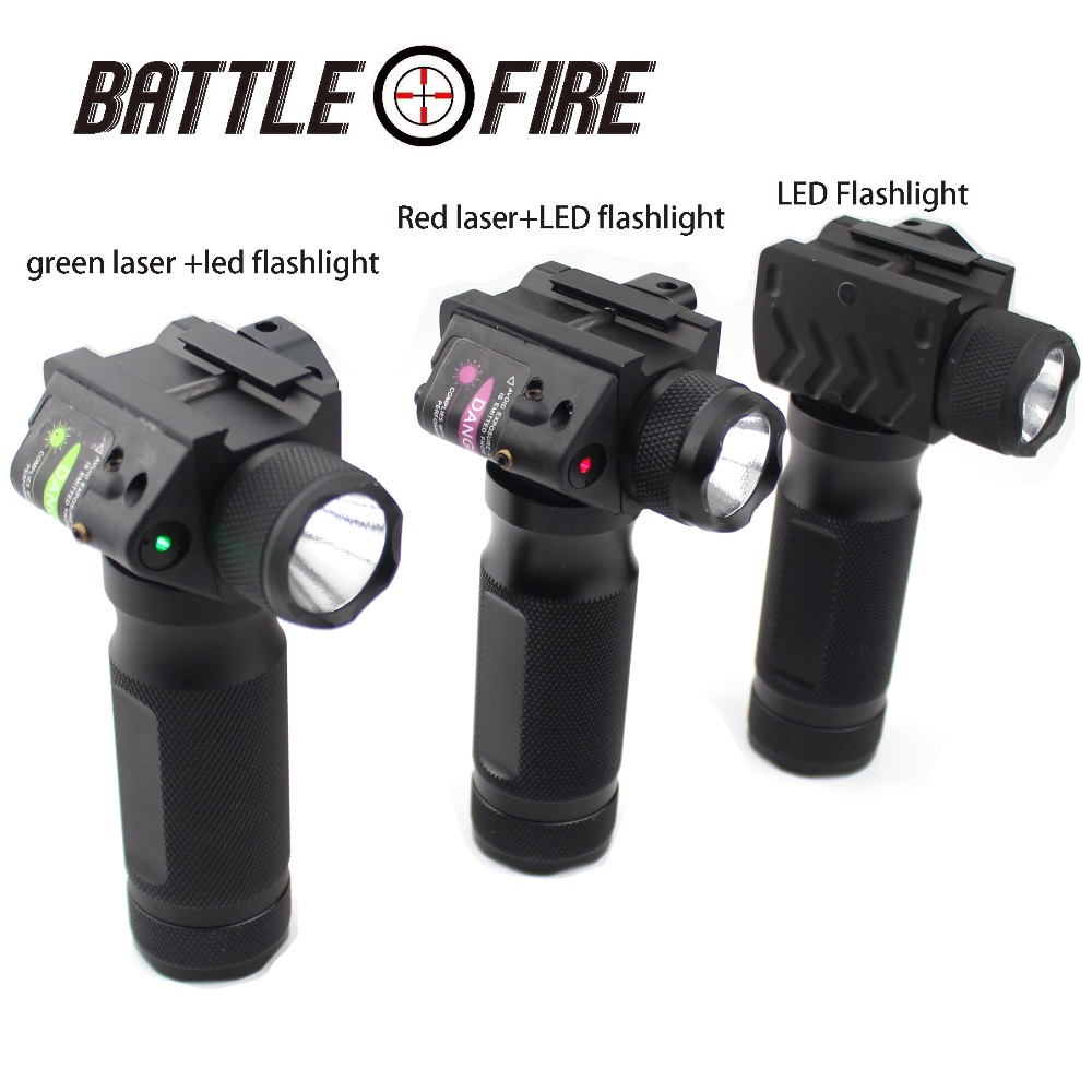 Tactical Fore Grip  Hard Light LED Flashlight With Red Green Laser Modification Replacement Suitable  Sight For  Hunting 20mm