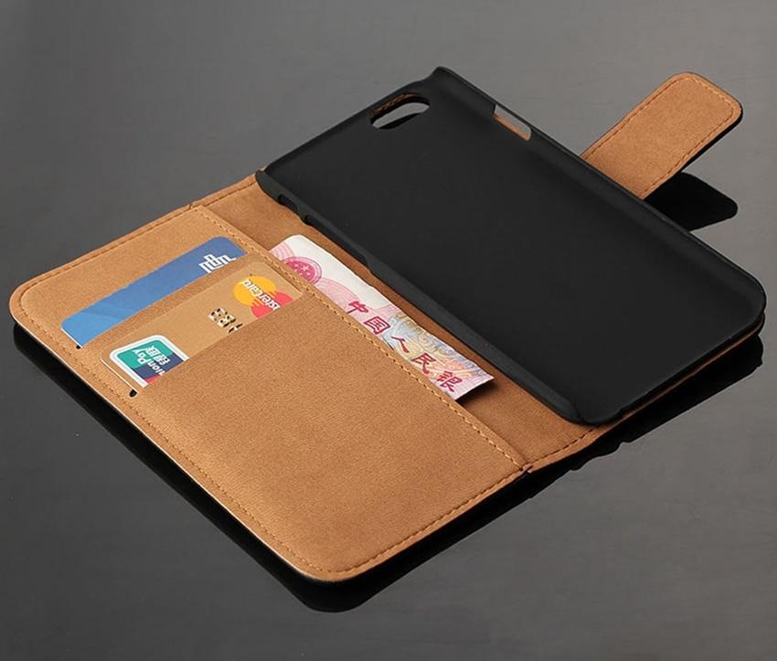 Äkta äkta läder plånbok väska Magnetlås Kickstand Flip baksida - Reservdelar och tillbehör för mobiltelefoner - Foto 6