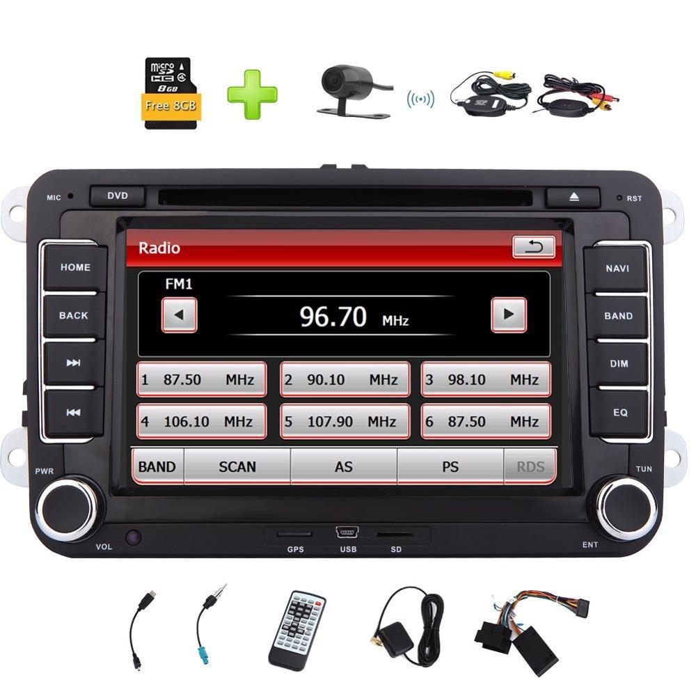 2 Din Car Radio Stereo DVD Player for VW Golf Skoda Jetta Passat Polo Support font