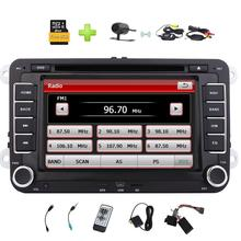 2 Din Car Radio Stereo DVD Player for VW Golf Skoda Jetta Passat Polo Support GPS SWC/Bluetooth/USB SD/Cam-In/Reverse Camera