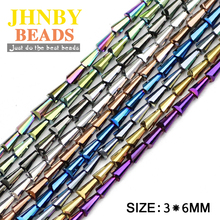 JHNBY Tower shape Austrian crystal beads 3*6mm 98pcs Round Conical Spire loose for Jewelry Bracelet Making accessories DIY