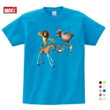 2019 Children festival Gift Summer Cartoon printing Madagascar Cute Funny T Shirt Send Birthday 3-15 years