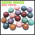 10pcs resin cabochon acrylic cabochon top diy beads jewelry findings and components size 18mm