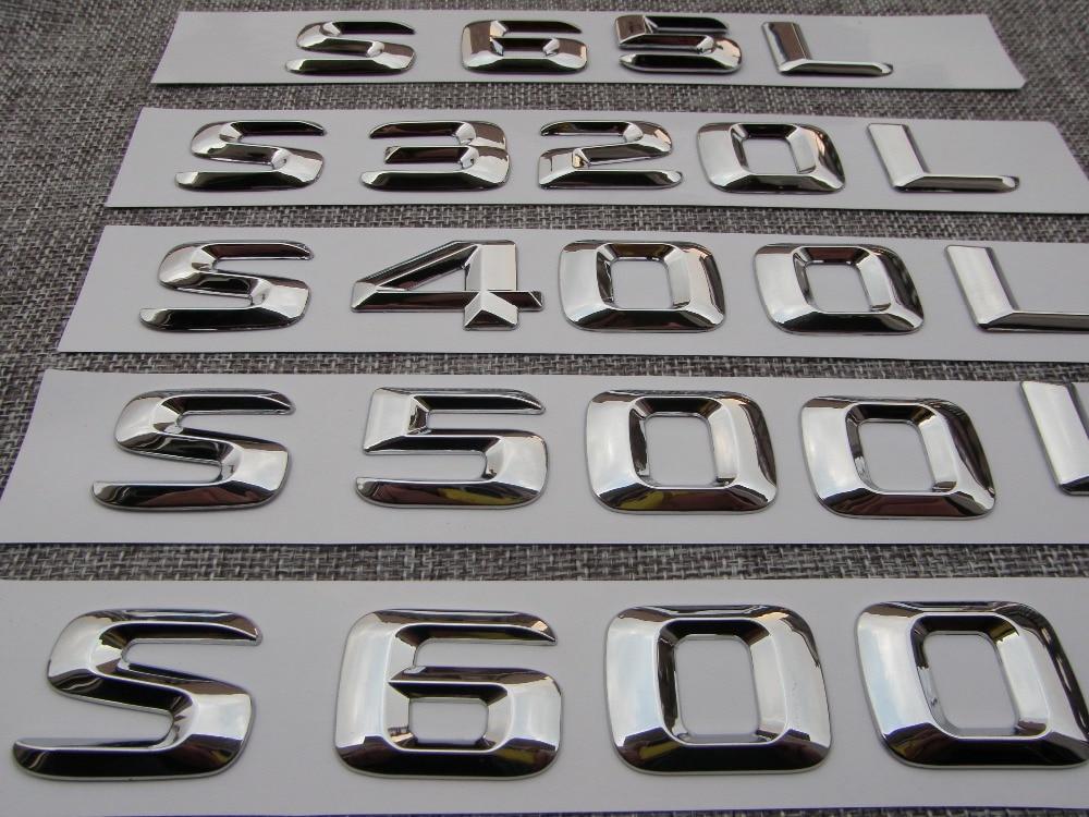 Chrome Plastik Bagasi Mobil Belakang Surat Nomor Badge Emblem Emblem - Suku cadang mobil - Foto 5