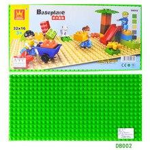 Big Particles Blocks Base Plate 51*25.5cm Baseplate 100% Compatible for Lego Duplo Large Self-Locking Bricks щипцы выпрямители с покрытием ep technology 5 0 the straightener pro bab2091epe babyliss professional