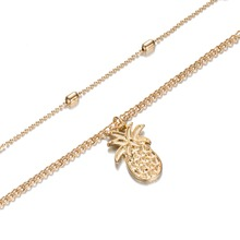 Two Layer Pineapple Necklace