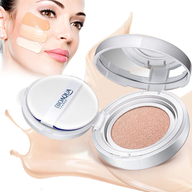 BIOAOUA Sunscreen Air Cushion BB CC Cream Concealer Moisturizing Foundation Whitening Makeup Bare For Face Beauty Makeup care 3