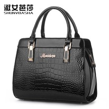 SNBS 100% Genuine leather Women handbags 2016 New crocodile handbags shoulder portable Ms. package and American style atmosphere