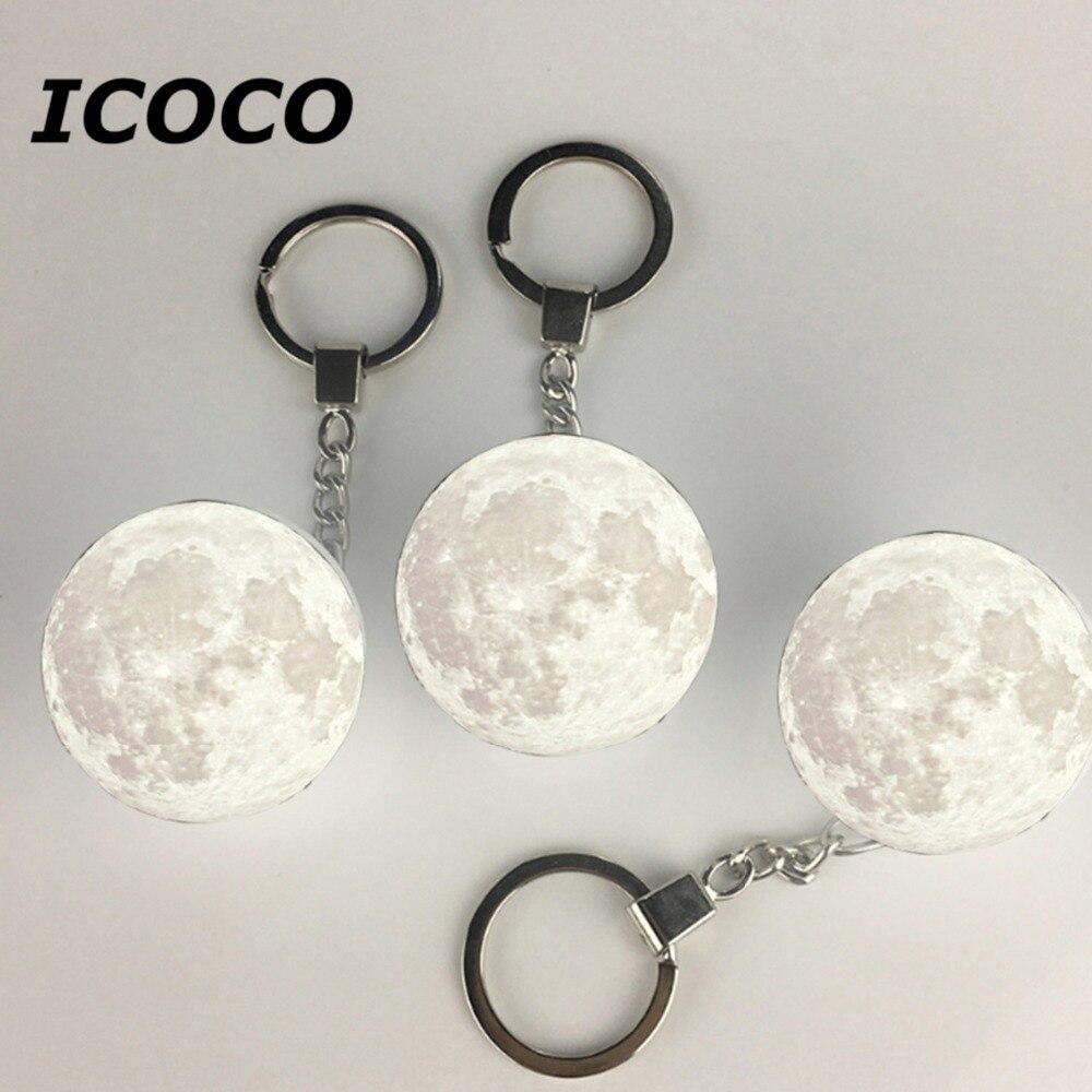 New Arrivals Utorch Portable 3D Moon Shape Keychain Night - WHITE LIGHT 2