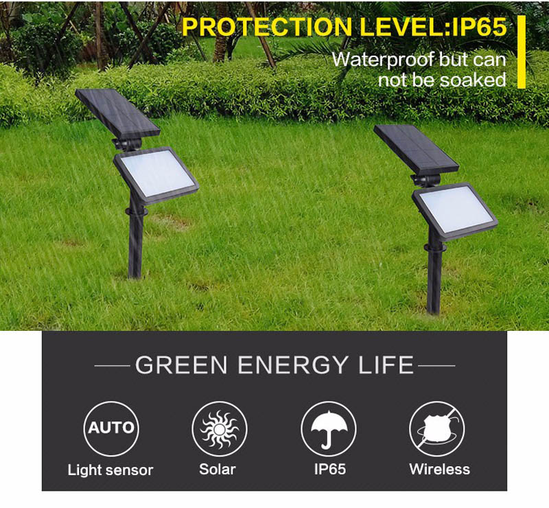 New Outdoor Solar Lamp IP65 Waterproof Modern Garden Solar lights 48leds SMD 2835 Emergency Led Lawn Lighting Bulb Lampe Solaire (6)