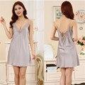 New Vestido Mulheres Sleepwear Backless Rendas Conjunto de lingerie Sexy Intimates Pijamas Nightgowns Sono Vestido de Noite Plus Size 0535