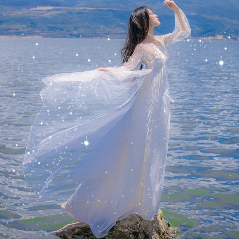 Pregnant Maternity women Pregnancy Photography Props White Harness dresses seaside vacation white beach skirt Slim elegant fairy все цены