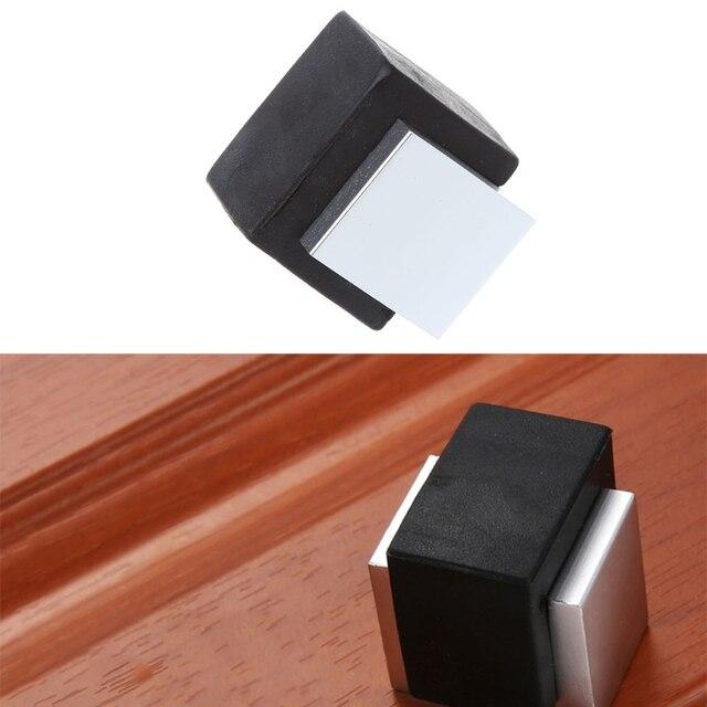 Rubber Door Stops Aluminium Alloy Stopper Wood Holder Toilet Gl Hidden Doorstop Furniture Hardware