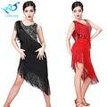4ba92e2f7 2019 nuevo vestido de lentejuelas de Jazz Latino baile vestido de las  mujeres Sexy flecos vestidos