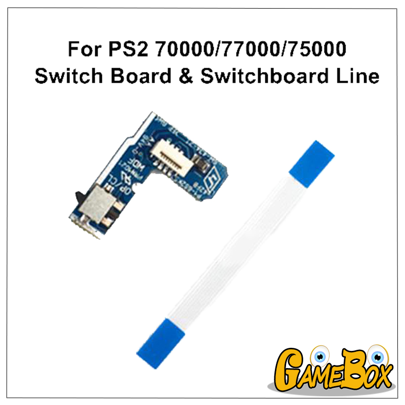 Power Switch Board Line For Sony PS2 70000/77000/75000 Power On Off Board Reset Switch Board For PS2 Cable Model
