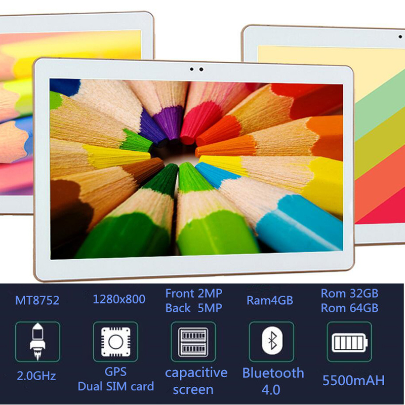 MT8752 Octa Core 10.1 Inch tablet gps Android Tablet 4GB RAM 32GB ROM Computer Dual SIM Bluetooth GPS build 3G 10 Tablet PC bobarry 10 inch m109 3g tablet pc android tablet pcs phone call octa core 4gb ram 32gb rom dual sim gps ips fm bluetooth tablet