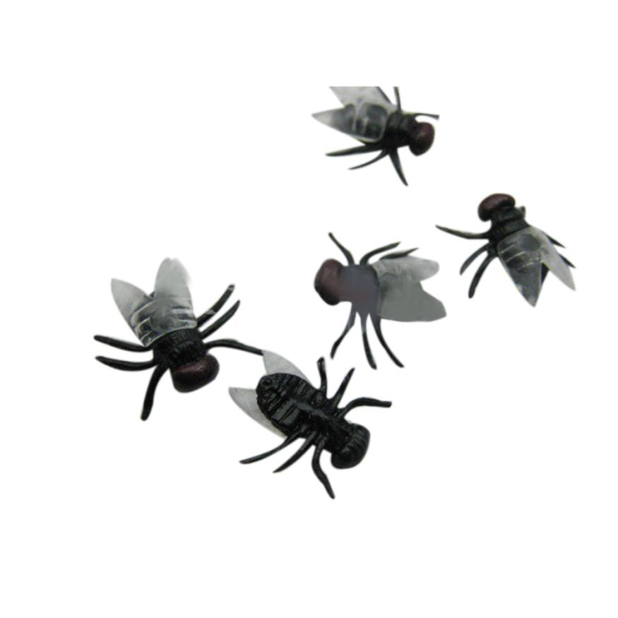 new halloween decorations and props 20 pc halloween plastic flys joking toys realistic mascaras de latex