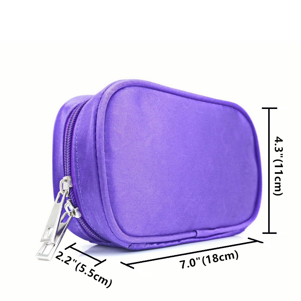 Купить с кэшбэком Travel Portable Double Zipper Essential Oil Carrying Case Pouch Holds 10 Roller Bottles 5ml 10ml 15ml doTERRA Young Living Bag